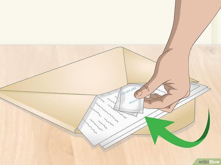 gel de sílice para proteger documentos y fotografías